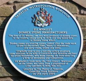 Donkey stone plaque